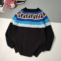 Fendi  Thick stick needle Vintage gradient thickened wool sweater