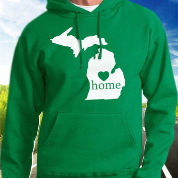 Michigan Home Hoodie - State Pride - Home - Clothing