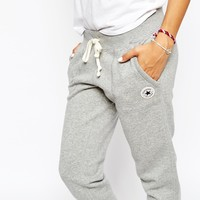 Converse Cuffed Skinny Sweat Pants With Tie Front & Small Logo Tracksuit