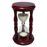 Hourglass Sand Timer - 15 Minute, Wood, 5 inch | Sand Timers and Hourglasses
