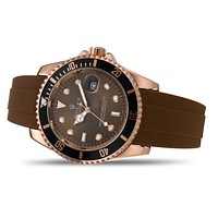 Rolex fashion splicing color men's and women's casual business watches