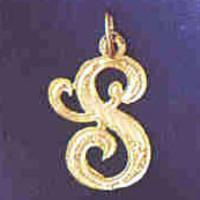 14K GOLD INITIAL CHARM - S #9560