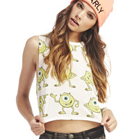Monsters Inc. Mike™ Crop Tank | Wet Seal