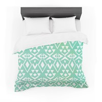 "Pom Graphic Design ""Ancient Tribe"" Seafoam Featherweight Duvet Cover"