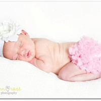 Ready TO SHIP- Chiffon Ruffle Bum Baby Bloomer- Diaper Cover, Baby Girl Bloomer, Newborn Photo Prop- 25 Colors to Choose From- MY2LILPIXIES