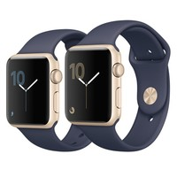 Apple Watch - Gold Aluminum Case with Midnight Blue Sport Band