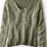 AEO Women's Don't Ask Why Side Slit Crew Sweater
