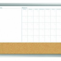 Board Dudes 18-Inch x 24-Inch Aluminum Framed 3-in-1 Dry Erase Calendar Cork Combo Board (17004):Amazon:Office Products