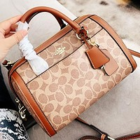 Samplefine2 COACH Fashion New Pattern Leather Shopping Leisure Shoulder Bag Crossbody Bag Handbag