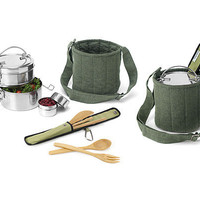 TIFFIN SET | Action Pack, Reusable, Eco-Friendly, To-Go, Containers, Lunch, Tiffins, Steel | UncommonGoods