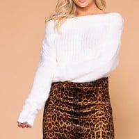 Jade Brown Leopard Print Mini Skirt