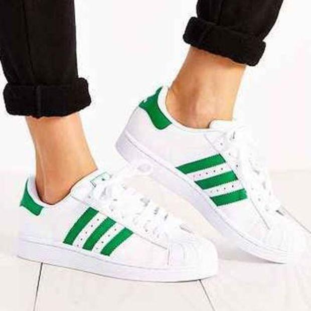 """Image of """"Adidas"""" Fashion Shell-toe Flats Sneakers Sport Shoes Green"""