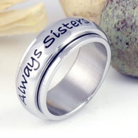 Purity Spinner Ring Always Sisters Promise Ring Sister Ring Gift