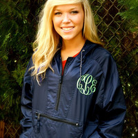 SALE-MONOGRAMMED Hooded Rain Jacket available in sizes S-XL