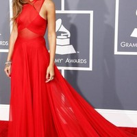 UK Long Red Tailor Made Evening Prom Dress (LFNAE0148) cheap online-MarieProm UK
