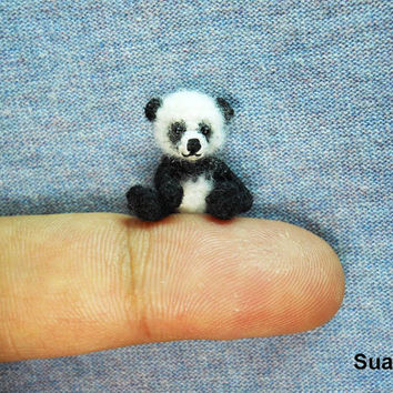 Panda bear toy miniature stuffed mini animal Miniature panda Panda ... | 354x354