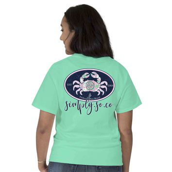 "Simply Southern ""Preppy Crab"" Short Sleeve Tee"