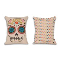 Sugar Skull Reversible Pillow