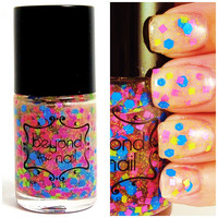 Hip to be Square - Neon Glitter Nail Polish