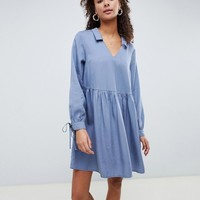 ASOS DESIGN casual collared smock mini dress | ASOS