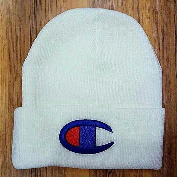 Boys & Men Champion Hiphop Women Men Beanies Winter Knit Hat Cap