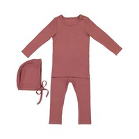 Lil Leggs Unisex-Baby Rose Ribbed Set