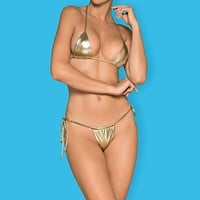Sexy Micro String Bikini Set Obsessive Bella Vista Golden