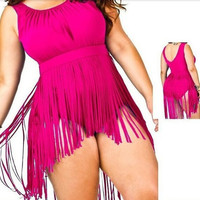 Plus Size One Piece Swimming Suit  [7898856135]