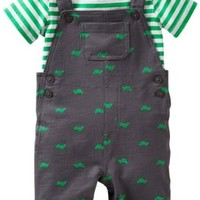 Carters Baby Boy Turtle French Terry Shortall Set 18 Mo Green/grey