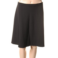 Theory Womens Knit Solid A-Line Skirt