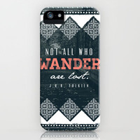 """""""Wander"""" Quote Illustration iPhone & iPod Case by Conteur Co."""