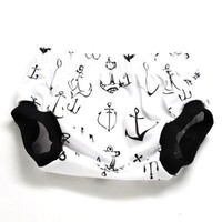 Summer Ins Anchor Ince Cream Pattern Infant Baby Boys Girls Pp Shorts Pants Bloomers Diaper Covers