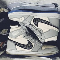 Dior x Nike Air Jordan 1 High OG High Top Sneakers Basketball Shoes