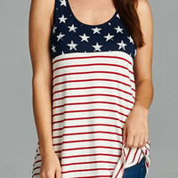 Stars and Stripes Oversized Tank