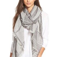 Women's Madewell 'Geo Block Mountain' Wool Scarf - Grey