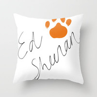 Ed Sheeran Signature Pawprint Throw Pillow by xjen94 | Society6
