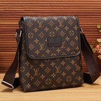 Boys & Men Louis Vuitton LV Office Bag Leather Satchel Shoulder Bag Crossbody