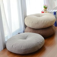 Soft Canvas Round Chair Cushion Seat Pad for Patio Home Car Office Floor Pillow with Insert Filling Memory Foam Futon Cushions