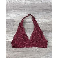 Intimate Semi-Sheer Halter Lace Bralette in More Colors