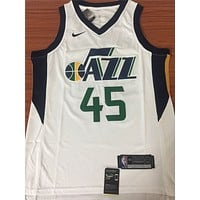 Utah Jazz #45 Donovan Mitchell White Basketball Jersey