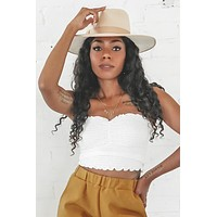 Steal Your Heart White Smocking Tube Top