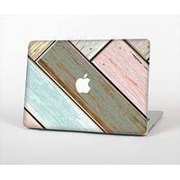 The Zigzag Vintage Wood Planks Skin Set for the Apple MacBook Pro 13""