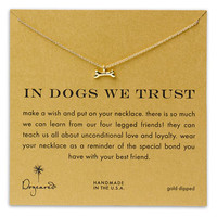 Women's Dogeared 'Reminder - In Dogs We Trust' Necklace