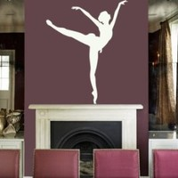Housewares Vinyl Decal Ballerina Dancing Home Wall Art Decor Removable Stylish Sticker Mural Unique Design for Any Room Dance Studio