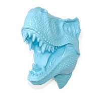 T-Rex Dinosaur Head Wall Mount - Ocean Blue - Dinosaur Faux Taxidermy TX33