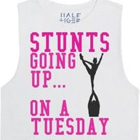 Stunts Going Up...-Unisex Snow T-Shirt