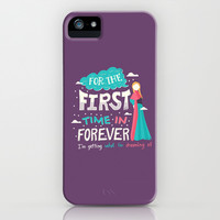 Frozen For the First Time in Forever iPhone & iPod Case by Risa Rodil