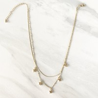 Living Like The Stars Gold Necklace