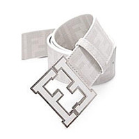 Men's Fendi Zucca white Belt mieniwe?