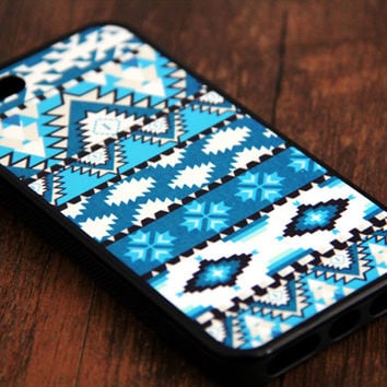 Green Aztec iPhone and Samsung Galaxy Rubber Case